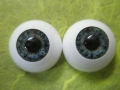Acryl-Glasaugen 16mm dark blue
