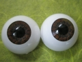 Acryl-Glasaugen 14mm dark brown